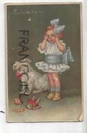 Petite Fille, Chien Et Poupée Cassée. Signée Colombo. 1934 - Colombo, E.