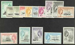 1954-62 Definitives Complete Set, SG G26/40, Never Hinged Mint. (15 Stamps) For More Images, Please Visit Http://www.san - Falkland Islands