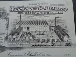 FACTURE - 72 - DEPARTEMENT DE LA SARTHE - TANNERIES DE CHALLES 1948 - ANC. FELIX ROCHE JEUNE FRERE - Zonder Classificatie
