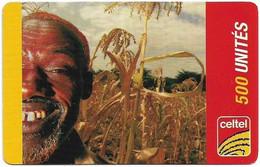 Congo Republic (Kinshasa) - Celtel - Old Man In A Plantation - Exp.31.12.2006, GSM Refill 500Units, Used - Congo