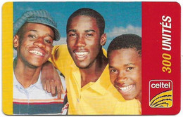 Congo Republic (Kinshasa) - Celtel - 3 Boys, Friends - Exp.31.12.2004, GSM Refill 300Units, Used - Congo