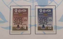 O) 1960 CEYLON, SRI LANKA, UPROOTED OAK, WORLD REFUGEE YEAR, TREE,SC 360-361, XF - Sri Lanka (Ceylon) (1948-...)
