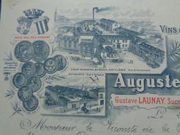 FACTURE - 72 - DEPARTEMENT DE LA SARTHE - LE MANS 1907 - VINS  & SPIRITUEUX EN GROS : AUGUSTE HAMME - Unclassified
