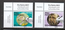 Schweiz Gestempelt   Pro Patria Handwerk  Neuausgabe 6.5.2021 Postpreis 2,75 CHF - Usados