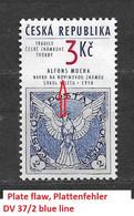 Czech Republic 1995 MNH ** Mi 63 Sc 2940 A. Mucha's Design. Plate Flaw. Tschechische Republik. - Unused Stamps