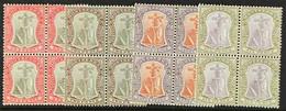 1904-08 1d, 2d, 3d And 6d, SG 25/26, 28/29, Fine Mint Or Nhm Blocks Of Four. (4 Blocks) For More Images, Please Visit Ht - Montserrat