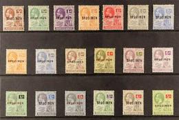 "1922-29 KGV (wmk Mult Script CA) Complete Set Overprinted ""SPECIMEN"", SG 63s/83s (not Including The 1d And 1½d Perforate - Montserrat"