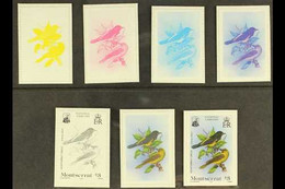 1985 IMPERF PROGRESSIVE COLOUR PROOFS For The National Emblems Set (SG 628/630), Each Value With Six Different Progressi - Montserrat