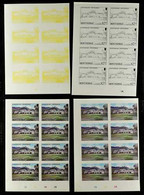1986 Tourism Complete Set (SG 710/13) In PROGRESSIVE COLOUR PROOFS. Each Of The Four Values With Seven Different Never H - Montserrat