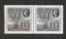 POLAND 1980 10th INTERNATIONAL CHOPIN PIANO COMPETITION NHM PAIR Music Composers Polish French France Trees Forest - Ongebruikt