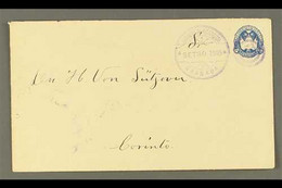 """POSTAL STATIONERY 1895 5c Blue, Envelope, H&G 29, Very Fine, Commercially Used With """"GRANADA / SET 30 1895"""" Cancel, Simi - Nicaragua"""