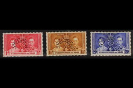 "1937 Coronation Set, Perf. ""SPECIMEN"", SG 65/67s, Fine Mint. (3) For More Images, Please Visit Http://www.sandafayre.com - St.Kitts Y Nevis ( 1983-...)"