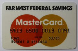 USA - Credit Card - MasterCard - Far West Federal Savings - Exp 03/83 - Used - Credit Cards (Exp. Date Min. 10 Years)