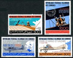 Comores Comoros Komoren 1987 Caudron Simoun, Letord, Morane-Saulnier H, Sommer ( YT PA 247, Mi 803, SG 624 ) - Airplanes