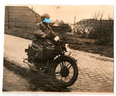 """Moto / Motos - Photo: Moto Militaire - Ph: H.L.Franck """"Liège Jemeppe"""" - Format: 21.5/17cm - Voir 2 Scans - Moto"""