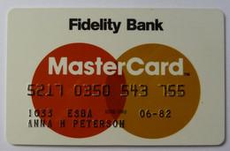 USA - Credit Card - MasterCard - Fidelity Bank - Exp 06/82 - Used - Carte Di Credito (scadenza Min. 10 Anni)