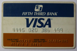 USA - Credit Card - VISA - Fifth Third Bank - Exp 08/80 - Used - Carte Di Credito (scadenza Min. 10 Anni)