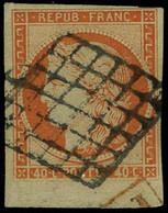Oblitéré N° 5, 40c Orange Bdf T.B. Signé Brun - Sin Clasificación