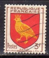 FRANCE FRANCIA 1954 ARMOIRIES STEMMI COAT OF ARMS AUNIS 3fr OBLITERE' USED USATO - Usati