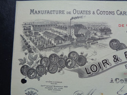 FACTURE - 72 - DEPARTEMENT DE LA SARTHE - COËMONT 1919 - L'AUTRE - OUATES & COTONS CARDES : LOIR & PHILIPON - Unclassified