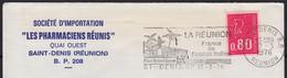 """Flamme De  ST-DENIS R.P.  La Réunion   Le 17 3 1976  Sur Enveloppe à Fenetre Avec En-tete PUB """" Pharmaciens Réunis """" - Mechanical Postmarks (Advertisement)"""