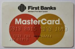 USA - Credit Card - MasterCard - First Banks - Exp 02/84 - Used - Carte Di Credito (scadenza Min. 10 Anni)