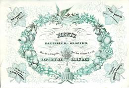 DE 659 - Carte Porcelaine Du Koentz, Patissier - Glacier, Ostende & Bruges Imp. Daveluy - Sin Clasificación