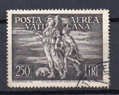 1948 Vaticano Arcangelo E Tobiolo N. 16 Timbrato Used Sassone 12 Euro - Luchtpost