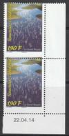 Nouvelle Calédonie - N°1220 X2 ** (2014) VARIETE : PIQUAGE A CHEVAL - - Geschnitten, Drukprobe Und Abarten