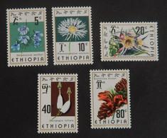 """ETHIOPIE MI 844/848 NEUF**MNH """"FLEURS""""  ANNÉE 1976 - Ethiopia"""
