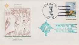 Asapex '81, American Sunbathing Association, Nudist Organization, Sultan Washington Illustrated Cover - FDC