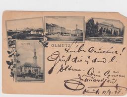 Olmutz (now Olomouc) Austro-Hungarian Empire, Multi-view C1890s Vintage Postcard - República Checa