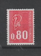 FRANCE / 1974 / Y&T N° 1816 ** : Béquet 80c Rouge Gravé (3 Bandes PHO) De Feuille - Gomme Métropolitaine X 1 - Unused Stamps