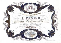 DE 661 - Carte Porcelaine Du L. Casier, Patissier, Confiseur, Glacier, Bruges, Imp De Lay De Muyterre - Sin Clasificación