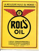 """PUBLICITE 2 VOLETS POUR L'HUILE """" ROLS'OIL """" - Unclassified"""