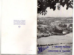 Brochure 2e Concours National De Conducteurs De Tracteurs Par Le Service Agricole Shell Berre En 1954 Soit 31 Pages - Trattori