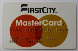 USA - Credit Card - MasterCard - First City National Bank Of Houston  - Exp 11/84 - Used - Carte Di Credito (scadenza Min. 10 Anni)