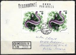 URSS: Raccomandata, Registered, Recommandè, Anguilla, Eel, Anguille - Peces