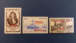Tunisie - Année 1947 Complète Du N° 311 à 323 * Neuf Avec Charnière - Unused Stamps