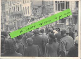 62- BOULOGNE Sur MER- Photo 18X13 - Bombardement Aérien , Grande Rue - Foule , Soldats Allemands - Gros Plan SUP. - Guerra 1939-45