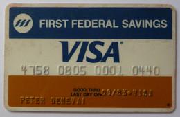 USA - Credit Card - VISA - First Federal Savings - Exp 09/83 - Used - Carte Di Credito (scadenza Min. 10 Anni)