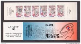 """FRANCE / 1989 / Y&T N° 2564/2569 En BC ** Ou BC2570 ** (Bande-carnet """"Révolutionnaires"""" X 1 - People"""