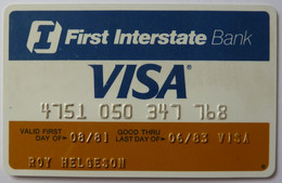 USA - Credit Card - VISA - First Interstate Bank Of Arizona - Exp 06/83 - Used - Carte Di Credito (scadenza Min. 10 Anni)