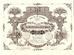 DE 664- Carte De Commerce Du Daschler-Migeon, Patissier, Gand, Imp. L. Defferrez - Sin Clasificación