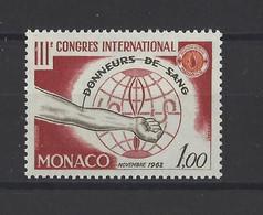 MONACO.  YT  N° 598   Neuf **  1962 - Unused Stamps