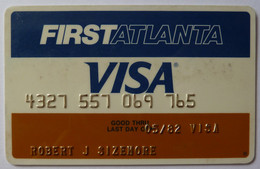 USA - Credit Card - VISA - First Atlanta - Exp 05/82 - Used - Carte Di Credito (scadenza Min. 10 Anni)
