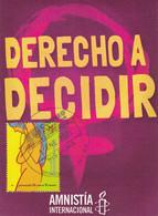 AMNESTÉ INTERNATIONALE 50 ANS. DERECHO A DECIDIR, ABORTO LEGAL. CARTE POSTALE, CIRCULEE ARGENTINE 2021.- LILHU - Health