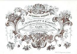 DE 665- Carte Porcelaine Du P. Margadant & Kastli, Patissiers, Confiseurs, Glaciers & Chocolatiers Suisses, Gand, - Sin Clasificación