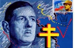 """"""" DE GAULLE /  LA VICTOIRE DU 8 MAI 1945 """" Sur Carte Maximum De 1994 N° YT 2944. Parfait état. CM - De Gaulle (Generale)"""