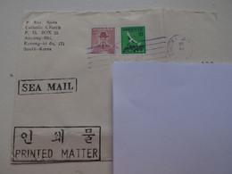 Corée Du Sud : Enveloppe Avec 2 Timbres Vers 1979 : Une Grue (10) Et Admliral Sun-sin (100) - Korea (Süd-)